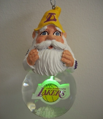 Los Angeles Lakers Light Up Gnome Snow Globe Ornament