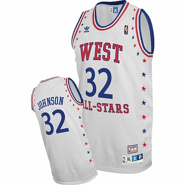 Los Angeles Lakers Magic Johnson 1983 All-Star Adidas Swingman Jersey