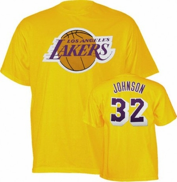 Los Angeles Lakers Magic Johnson Player Name and Number T-Shirt
