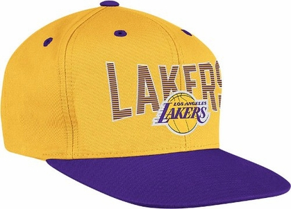 Los Angeles Lakers Name and Logo Snap Back Hat