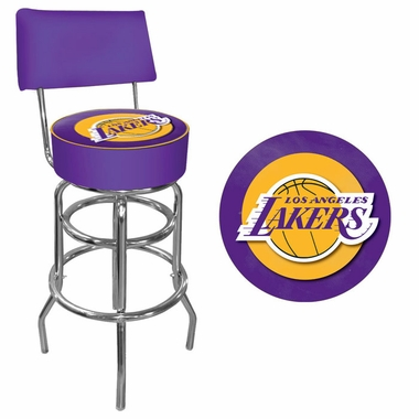 Los Angeles Lakers Padded Bar Stool with Back