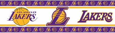 Los Angeles Lakers Peel and Stick Wallpaper Border
