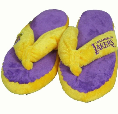 Los Angeles Lakers Plush Thong Slippers