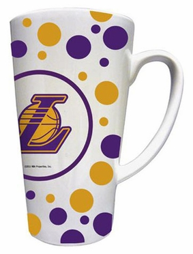 Los Angeles Lakers Polkadot 16 oz. Ceramic Latte Mug