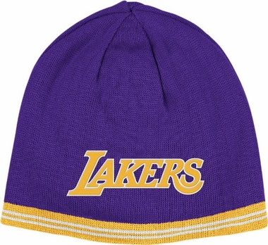 Los Angeles Lakers Reversible Cuffless Knit Hat