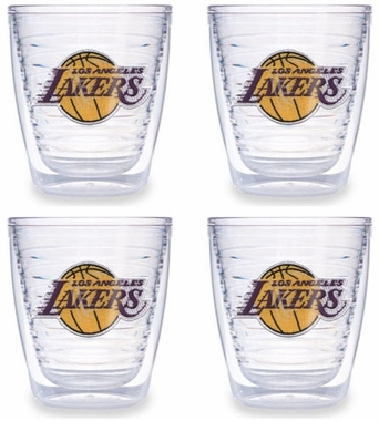 Los Angeles Lakers Set of FOUR 12 oz. Tervis Tumblers