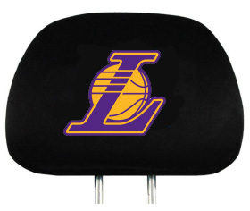 Los Angeles Lakers Set of Headrest Covers