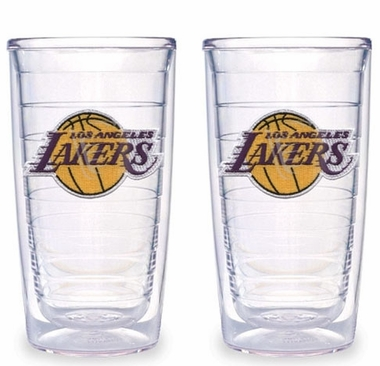 Los Angeles Lakers Set of TWO 16 oz. Tervis Tumblers