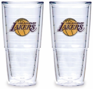 Los Angeles Lakers Set of TWO 24 oz. Tervis Tumblers