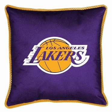Los Angeles Lakers SIDELINES Jersey Material Toss Pillow