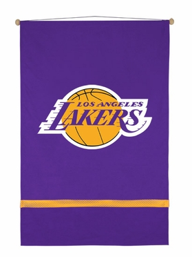 Los Angeles Lakers SIDELINES Jersey Material Wallhanging