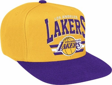 Los Angeles Lakers Stadium Throwback Snapback Hat