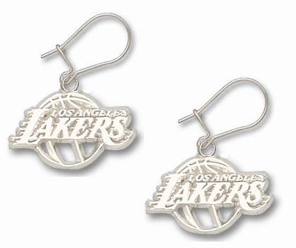 Los Angeles Lakers Sterling Silver Post or Dangle Earrings