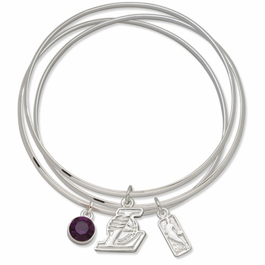 Los Angeles Lakers Triple Bangle Bracelet