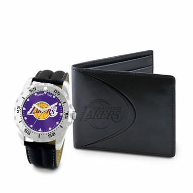 Los Angeles Lakers Watch and Wallet Gift Set