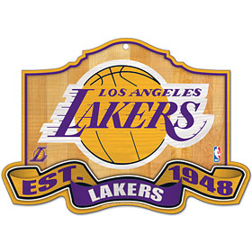 Los Angeles Lakers Wood Sign