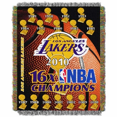 Los Angeles Lakers Woven Tapestry Blanket
