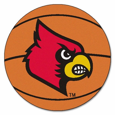 Louisville Basketball Shaped Rug