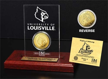 Louisville Cardinals Louisville Cardinals 24KT Gold Coin Etched Acrylic
