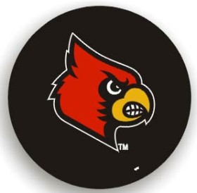 Louisville Cardinals Black Tire Cover - Standard Size