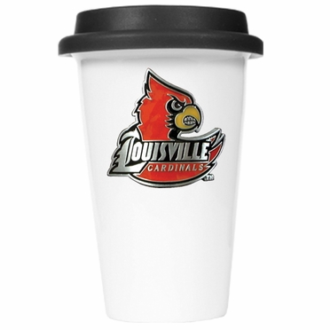 Louisville Ceramic Travel Cup (Black Lid)