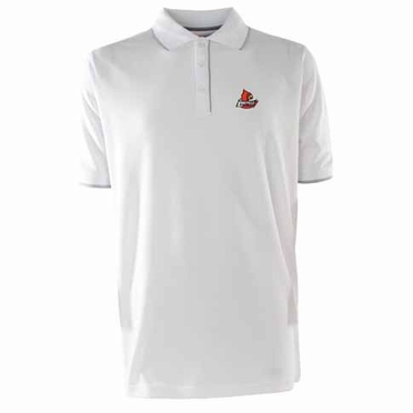 Louisville Mens Elite Polo Shirt (Color: White)