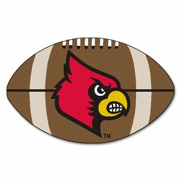Louisville Football Shaped Rug