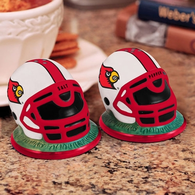 Louisville Helmet Ceramic Salt and Pepper Shakers