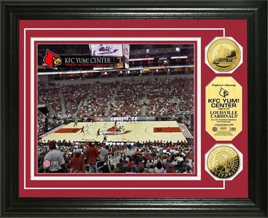 Louisville Cardinals University of Louisville KFC YUM! Center 24KT Gold Coin Photomint