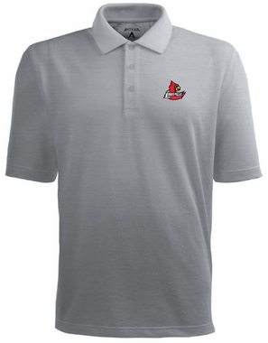Louisville Mens Pique Xtra Lite Polo Shirt (Color: Gray)