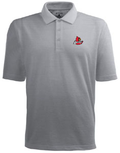 Louisville Mens Pique Xtra Lite Polo Shirt (Color: Gray) - Large