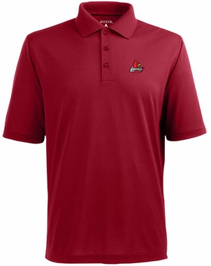 Louisville Mens Pique Xtra Lite Polo Shirt (Color: Red)