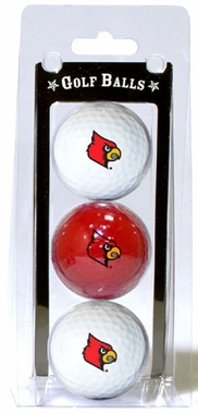 Louisville Set of 3 Multicolor Golf Balls