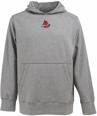 Louisville Mens Signature Hooded Sweatshirt (Color: Gray)