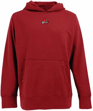 Louisville Mens Signature Hooded Sweatshirt (Team Color: Red)