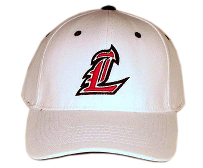 Louisville White Premium FlexFit Baseball Hat