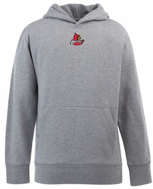 Louisville YOUTH Boys Signature Hooded Sweatshirt (Color: Gray)