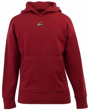 Louisville YOUTH Boys Signature Hooded Sweatshirt (Color: Red)