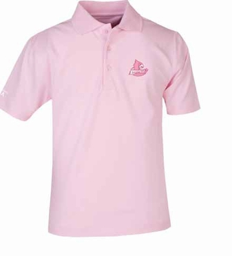 Louisville YOUTH Unisex Pique Polo Shirt (Color: Pink)