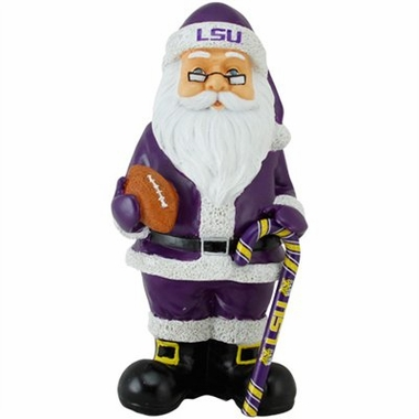 LSU 11 Inch Resin Team Santa Figurine