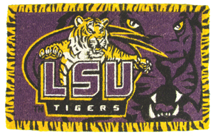 LSU 18x30 Bleached Welcome Mat