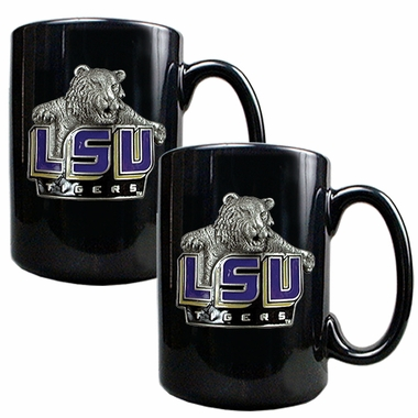 LSU 2 Piece Coffee Mug Set