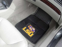 LSU 2 Piece Heavy Duty Vinyl Car Mats