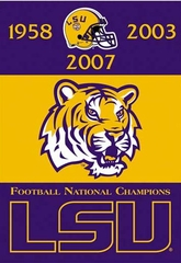LSU 2 Sided Championship Banner (P)