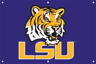 LSU 2 x 3 Horizontal Applique Fan Banner