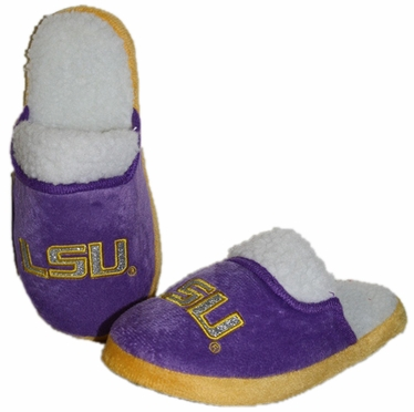 LSU 2012 Womens Team Color Sherpa Glitter Slippers