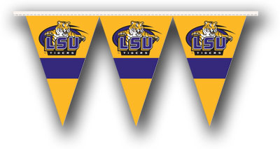 LSU 25 Foot String of Party Pennants (P)