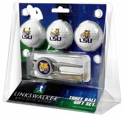 LSU 3 Ball Gift Pack With Kool Tool