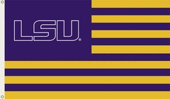 LSU 3' x 5' Flag (Stripes) (F)