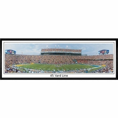 LSU 45 Yard Line Framed Panoramic Print